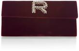 Rochas Velvet Rectangle Clutch