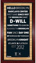 """Steiner Sports Brooklyn Nets 32"""" x 16"""" Vintage Subway Sign with Game-Used Net"""