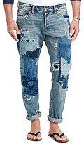 Polo Ralph Lauren Sullivan Destructed Patched Slim-Fit Jeans