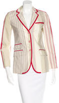 Etro Striped Woven Blazer