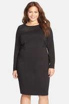 CARMAKOMA 'Kulde' Mesh Inset Body-Con Dress (Plus Size)