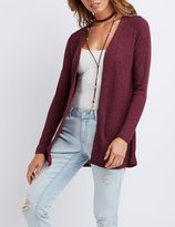 Charlotte Russe Ribbed Longline Cardigan