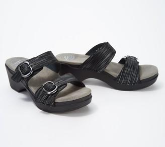 Dansko Leather Double Buckle Sandals - Sophie
