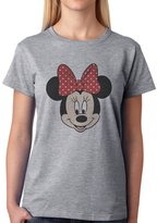 ANGRYDEER Mickey SWAG Mouse Minnie Smyling Head Majestic Womens T-Shirt