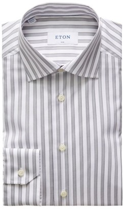 Eton Slim-Fit Striped Dress Shirt