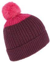 Joules Fine Cable Knit Bobble Hat