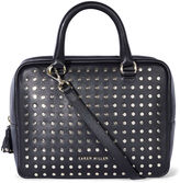 Karen Millen Leather Stud Bowling Bag - Black