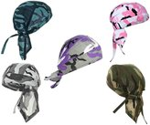 Buy Caps and Hats Pack of Camouflage Doo Rags Camo Motorcycle Skull Caps Set Headwrap Lot