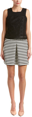 Karen Millen Lace Bodice A-Line Dress