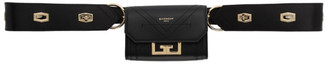Givenchy Black Nano Eden Belt Strap Pouch