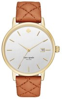 Kate Spade 'metro Grand' Quilted Strap Watch, 38mm