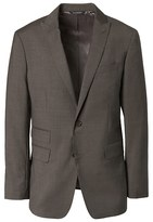 Banana Republic Standard Brown Solid Italian Wool Suit Jacket