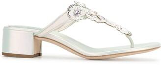 Rene Caovilla Embellished Mule Sandals