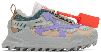 Off-White Brown and Purple ODSY-1000 Sneakers