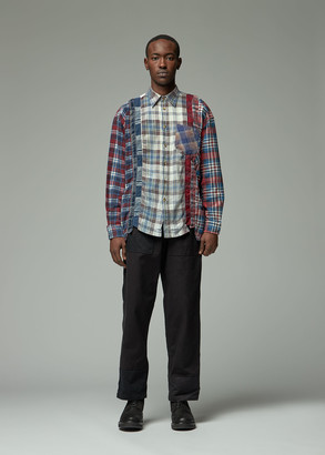 Needles Men's 7 Cuts Flannel Shirt in Assorted Size Large 100% Cotton