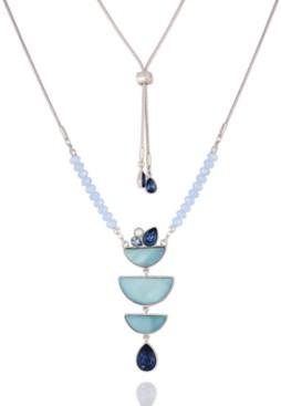 T Tahari Stone and Shells Pendant Necklace