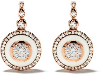Selim Mouzannar 18kt rose gold diamond Mina earrings
