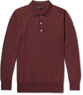 Melange Home Merino Wool Polo Shirt
