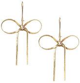 Betsey Johnson Crystal Goldtone Bow Drop Statement Earrings
