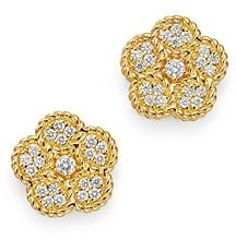 Roberto Coin 18K Yellow Gold Daisy Diamond Stud Earrings - 100% Exclusive