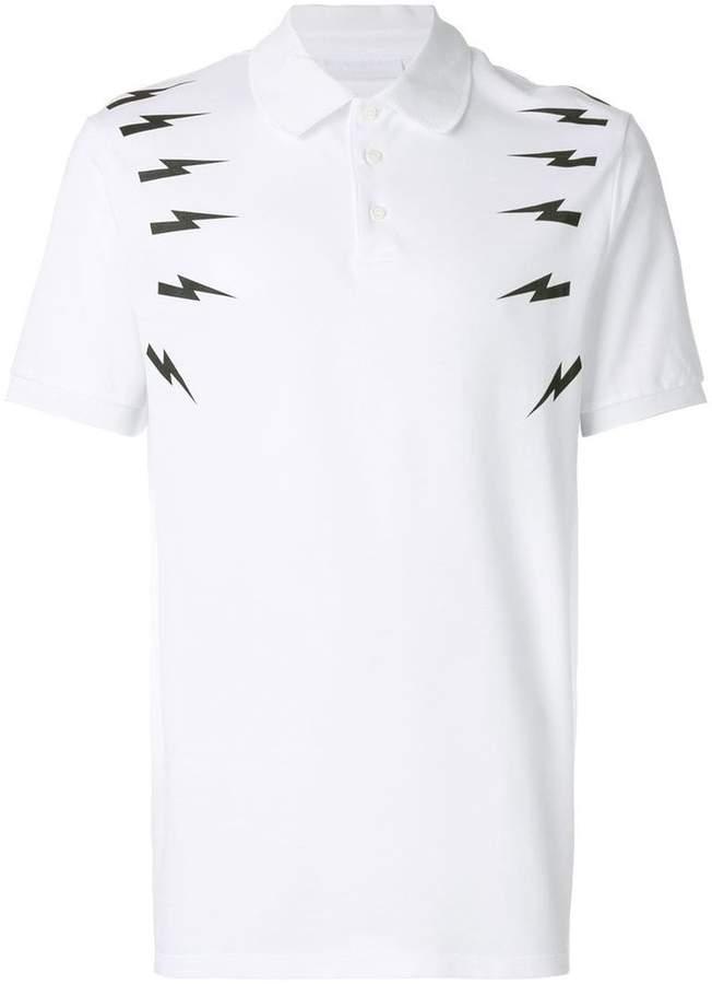 Neil Barrett Thunderbolt polo shirt