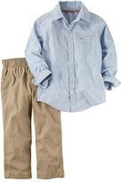 Carter's Toddler Boy Poplin Button-Down Shirt & Canvas Pant Set