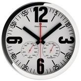 "Oliver Hemming Chrome Steel Wall Clock - White (12"")"