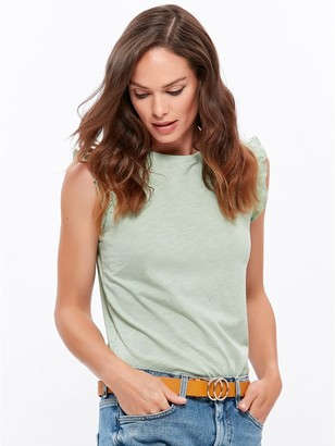 M&Co Broderie frill top