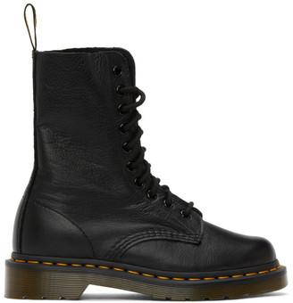 Dr. Martens Black Virginia Mid-Calf Boots