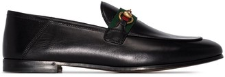 Gucci Brixton Web-detail loafers