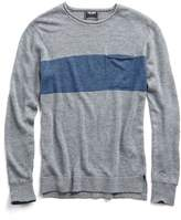 Todd Snyder Rugby Stripe Linen Rollneck Sweater