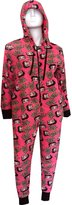 Betty Boop Plush One Piece Hoodie Pajama for women