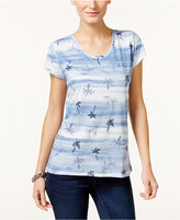 Style&Co. Style & Co Bandana-Print T-Shirt, Only at Macy's