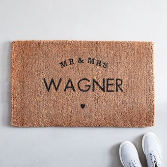 west elm Mr & Mrs Doormat