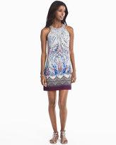 White House Black Market Printed Knit Halter Shift Dress