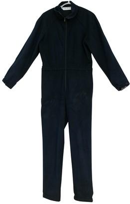 Ted Lapidus Blue Velvet Jumpsuit for Women Vintage
