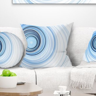 """Abstract Radio Waves Pillow East Urban Home Size: 16"""" x 16"""", Product Type: Throw Pillow"""