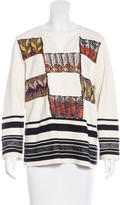 Tory Burch Geometric Patterned V-Neck Sweater w/ Tags
