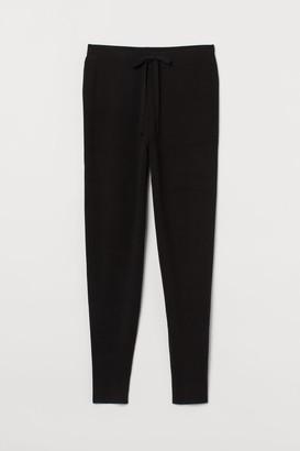 H&M Fine-knit Joggers - Black