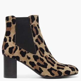 Daniel Lorrainer Leopard Suede Chelsea Boots