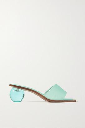 Cult Gaia Tao Faille Sandals - Turquoise