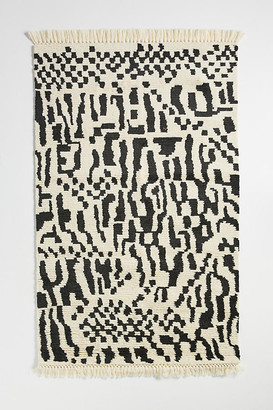 Anthropologie Tufted Ingo Rug By in Black Size 8 x 10