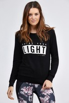 Spiritual Gangster Shine Your Light Boyfriend Shrunken Sweatshirt