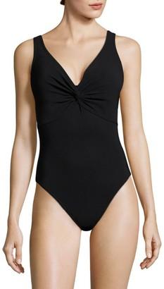 Karla Colletto Swim V-Neck Silent Underwire Swimsuit
