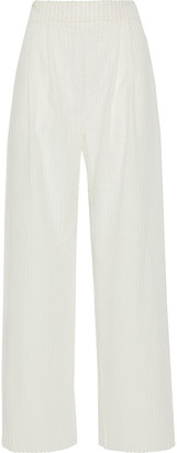 Michael Lo Sordo Cotton-chenille Wide-leg Pants