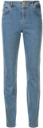 Escada Flower-Patch Slim-Fit Jeans