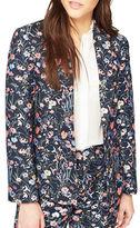Miss Selfridge Floral Jacquard Tuxedo Blazer