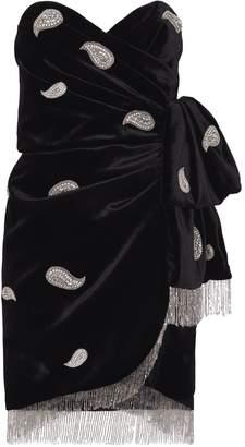 Dundas Velvet Crystal-Embellished Dress