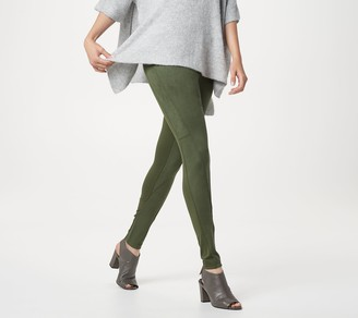 Women With Control Women with Control Tall Tummy Control Faux Suede and Ponte Leggings