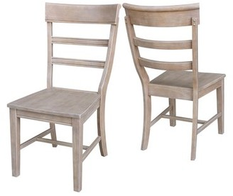 Breakwater Bay Salsbury Solid Wood Dining Chair Color: Washed Gray Taupe
